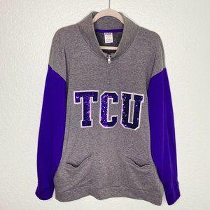 Victoria's Secret PINK Pullover TCU Sequin Sweater